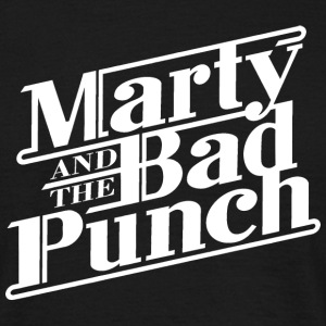 Marty And The Bad Punch - White Logo Shirt - Männer T-Shirt