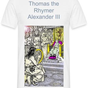 Thomas the Rhymer reciting to Malcom III T-Shirts - Men's T-Shirt