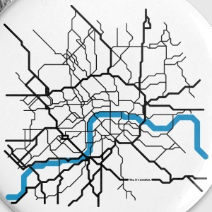 LONDON City Abstract Map groß Buttons & Anstecker - Buttons mittel 32 mm