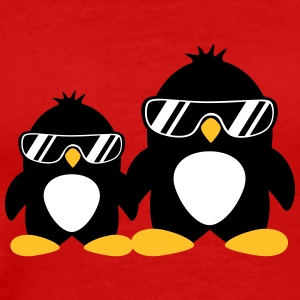 Cool Penguin Dad And Boy T-shirts - Herre premium T-shirt