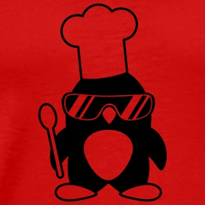 Cool Penguin Chef T-shirts - Premium-T-shirt herr