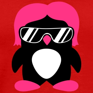Cool Penguin Girl T-shirts - Herre premium T-shirt