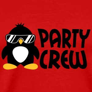 Party Crew Penguin T-shirts - Premium-T-shirt herr