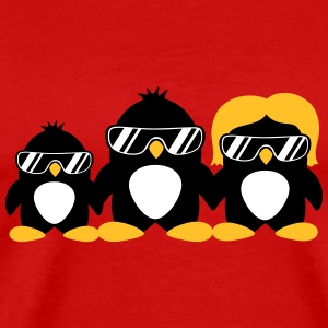 Cool Penguin Family T-shirts - Herre premium T-shirt