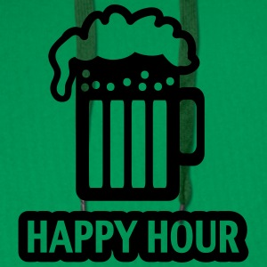 HAPPY HOUR - BEER DRINKING - GLAS  - PATRICK`S DAY Bluzy - Bluza męska Premium z kapturem