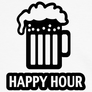 HAPPY HOUR - BEER DRINKING - GLAS  - PATRICK`S DAY T-skjorter - Kontrast-T-skjorte for menn