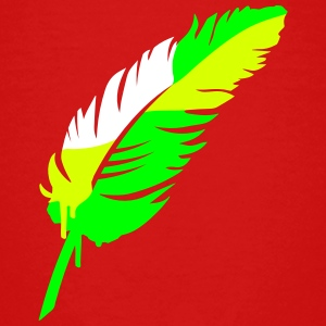 A colorful feather Shirts - Teenage Premium T-Shirt