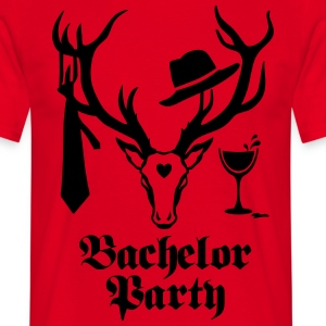 Stag Deer antlers - Bachelor Party Wine - Men's T-Shirt