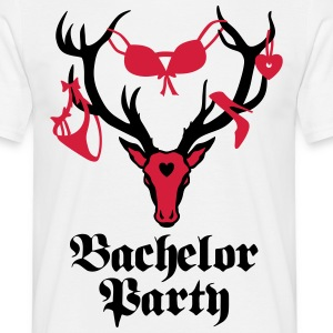 Stag Deer antlers - Bachelor Party - Men's T-Shirt