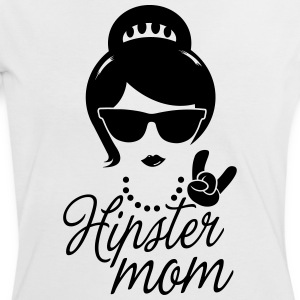 Like a i love hipster mother mom mother's day Tee shirts - Tee shirt contraste Femme