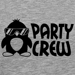 Party Crew Penguin T-shirts - Herre premium T-shirt