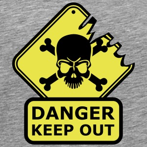 Danger Keep Out Death Sign T-shirts - Herre premium T-shirt