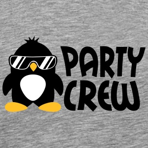 Party Crew Penguin T-skjorter - Premium T-skjorte for menn