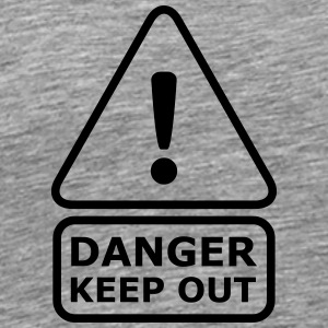Danger Keep Out T-shirts - Premium-T-shirt herr