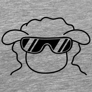 Cool Sheep Head T-skjorter - Premium T-skjorte for menn