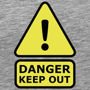 Danger Keep Out T-shirts - Herre premium T-shirt