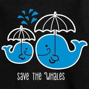 Rettet die Wale- Schützt die Wale- save the whales T-Shirts - Teenager T-Shirt