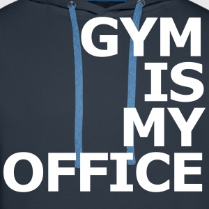 Gym is my Office Sudaderas - Sudadera con capucha premium para hombre