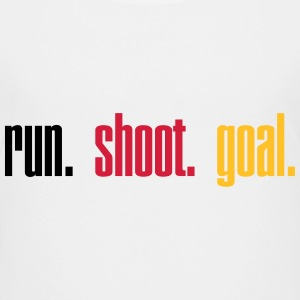 Run. Shoot. Goal.  3c T-shirts - Premium-T-shirt tonåring