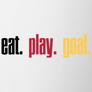 Eat. Play. Goal.  3c Flaskor & muggar - Mugg