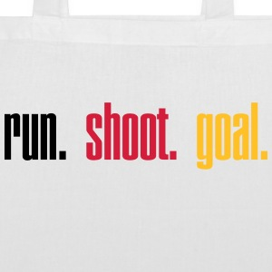 Run. Shoot. Goal.  3c Sacs et sacs à dos - Tote Bag