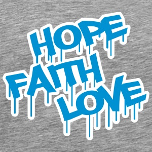 Faith Hope Love T-shirts - Herre premium T-shirt