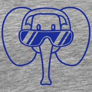 Cool Elephant Head T-shirts - Premium-T-shirt herr