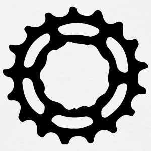 Mountain bike gear sprocket gears 1c. T-Shirts - Men's T-Shirt