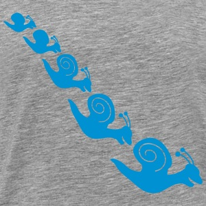 Happy Snails T-shirts - Premium-T-shirt herr