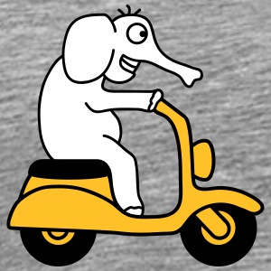Moped Elephant T-skjorter - Premium T-skjorte for menn
