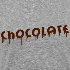 Chocolate Graffiti T-skjorter - Premium T-skjorte for menn