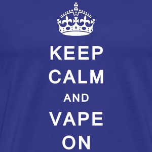 'Keep Calm & Vape On' Men's T-Shirt - Men's Premium T-Shirt