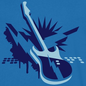 An electric guitar as a graffiti T-Shirts - Men's V-Neck T-Shirt