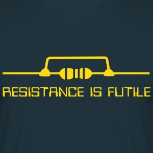Resistance is futile (english) - Männer T-Shirt