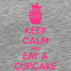 Keep Calm Cupcake Camisetas