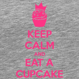 Keep Calm Cupcake T-shirts - Mannen Premium T-shirt