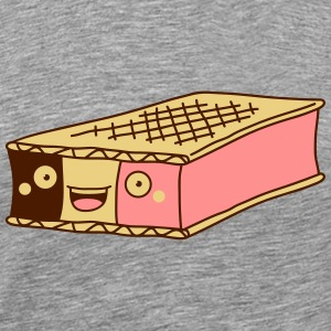 Funny Ice Cream Sandwich T-shirts - Herre premium T-shirt
