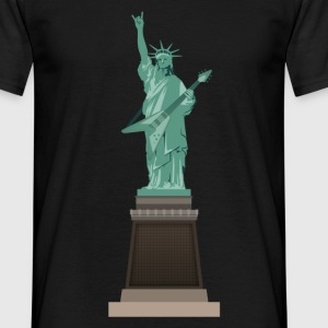 Liberty statue rocks - Men's T-Shirt