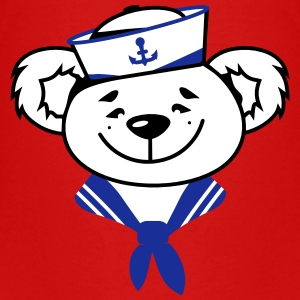 Bear with sailor hat and sailor scarf Shirts - Teenage Premium T-Shirt
