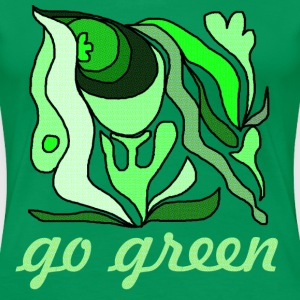 go green - Frauen Premium T-Shirt