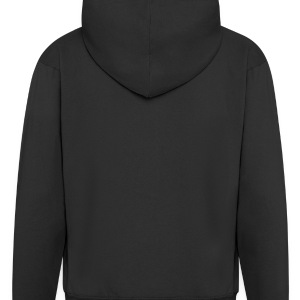 Black i love painted heart EN Men's T-Shirts - Men's Premium Hooded Jacket