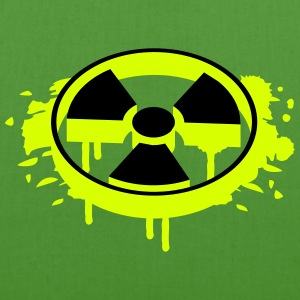 A radioactive sign as a graffiti Bags  - EarthPositive Tote Bag