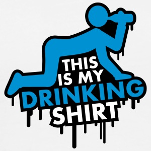 This Is My Drinking Shirt Graffiti T-shirts - Premium-T-shirt herr