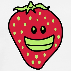 Funny Strawberry T-skjorter - Premium T-skjorte for menn