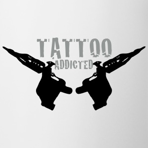 Tattoo Addicted Tattosüchtig Sucht Süchtig 2c Bottles & Mugs - Mug