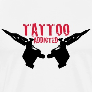 Tattoo Addicted Tattosüchtig Sucht Süchtig 2c T-Shirts - Men's Premium T-Shirt