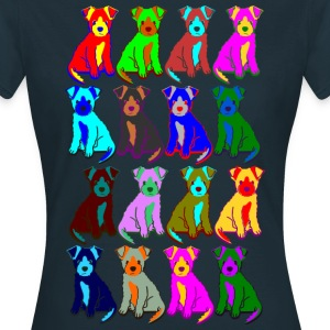 colorful puppies T-shirts - Dame-T-shirt