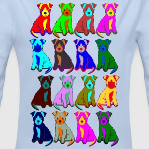 colorful puppies Sudaderas - Body orgánico de manga larga para bebé