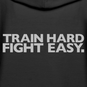 Train hard fight easy | Womens Hoodie - Women's Premium Hoodie