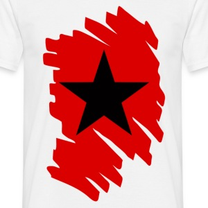 Blanc black and red star T-shirts - T-shirt Homme